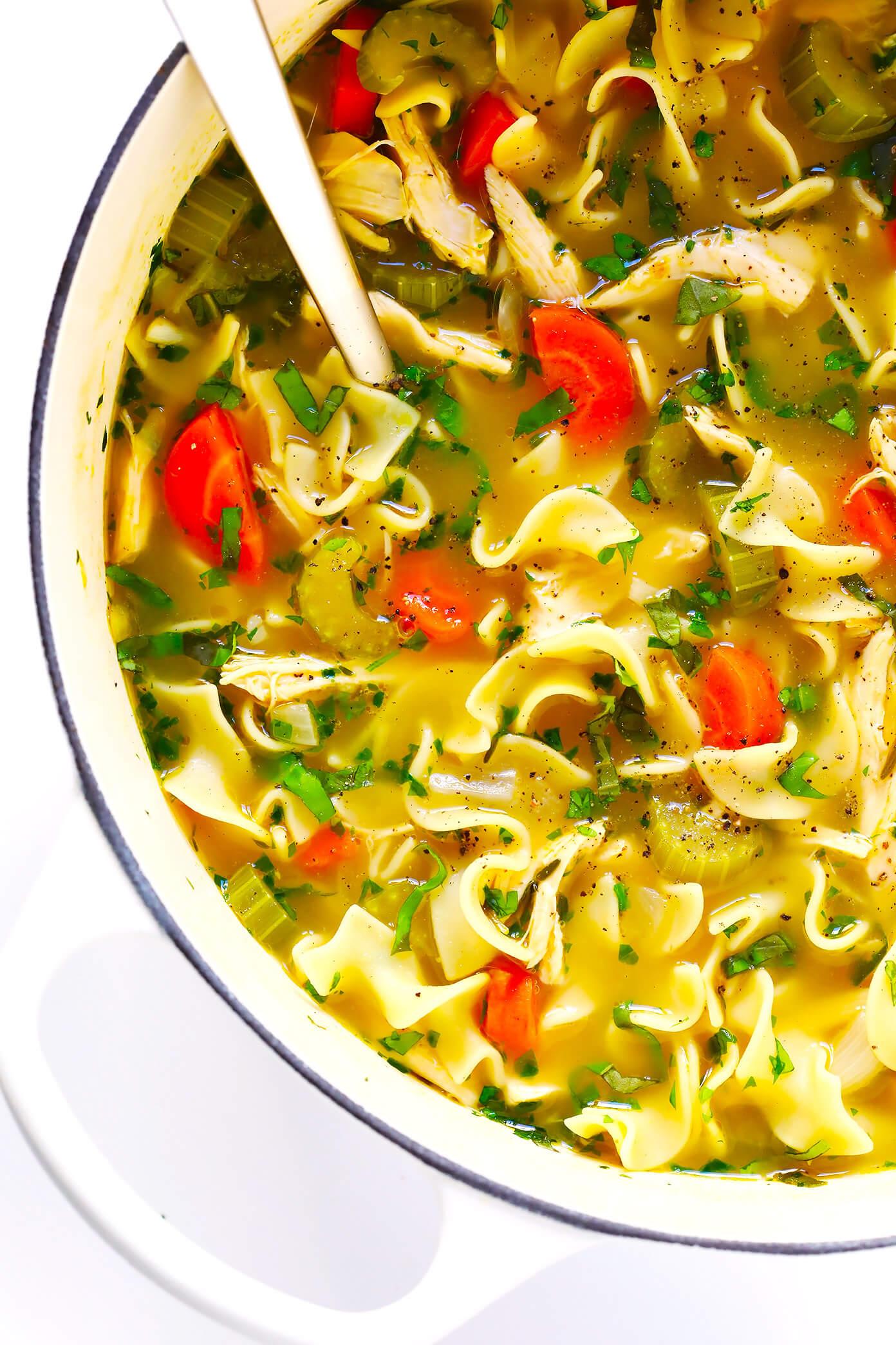 New Fall Menu; Chicken Noodle Soup!