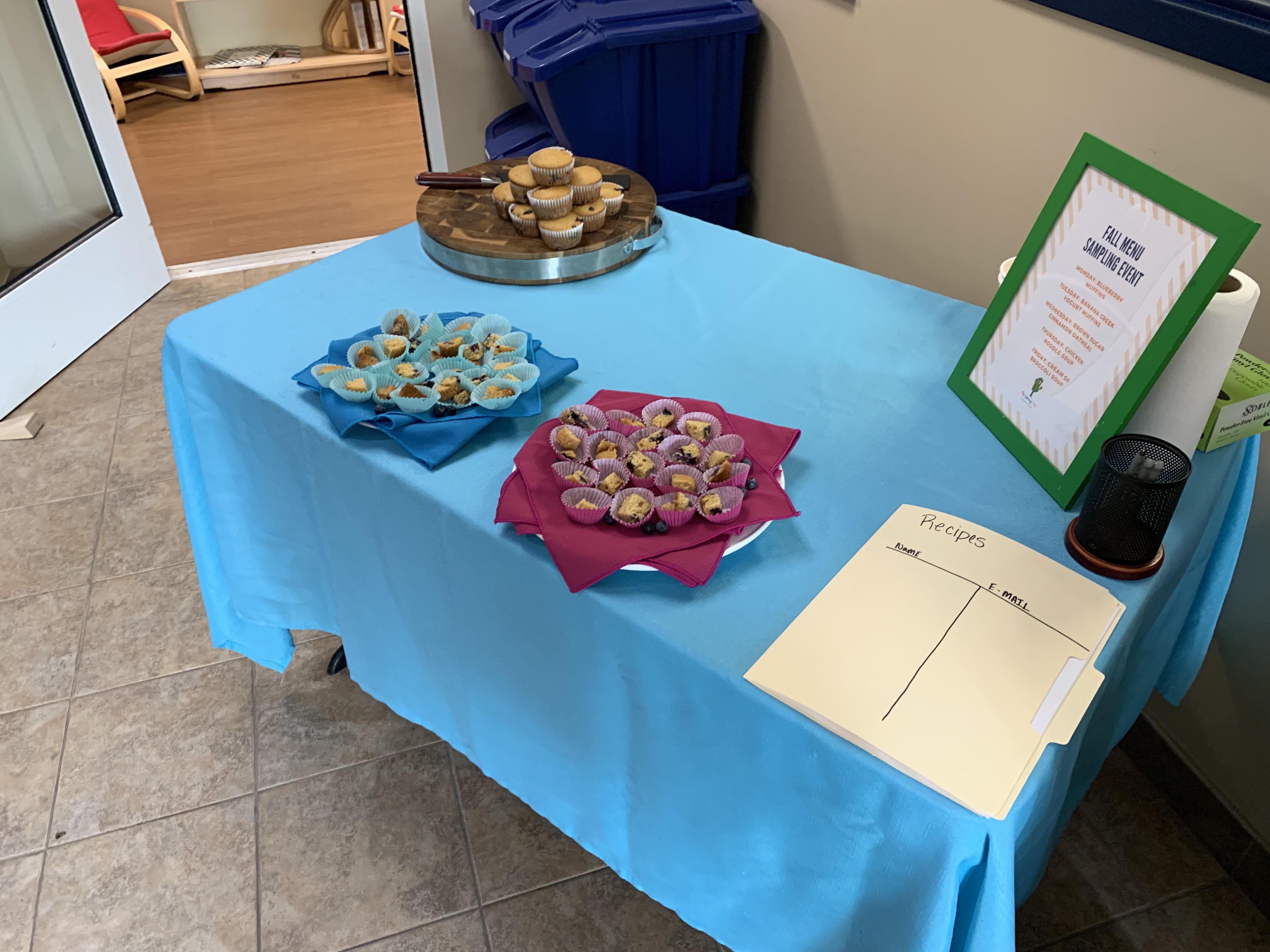 New Fall Menu; Blueberry Muffins!