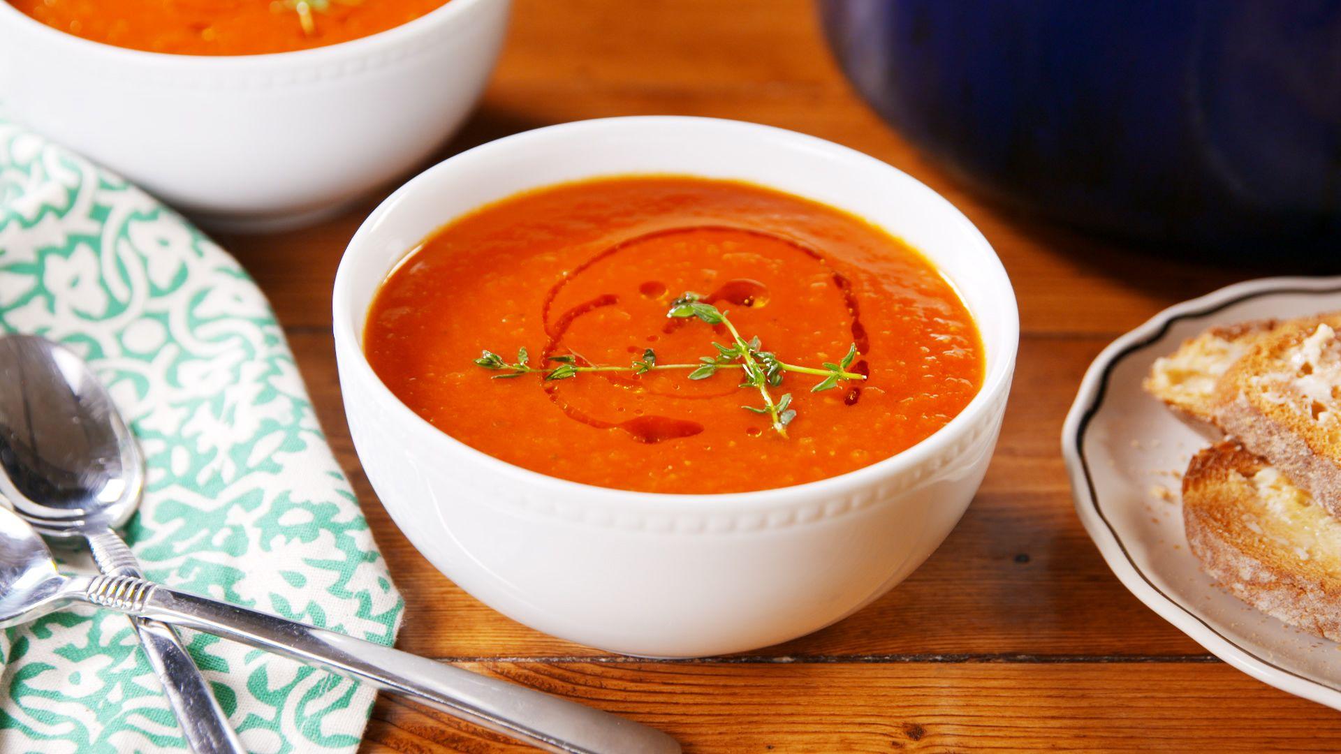 New Fall Menu: Turkey Tomato Soup!