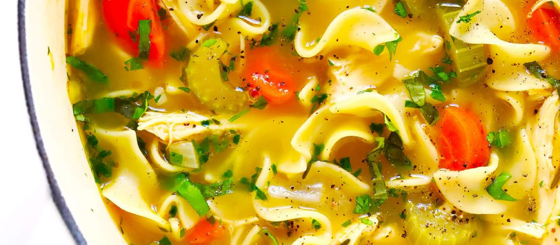 Herb Loaded Homemade Chicken Noodle Soup Recipe 2